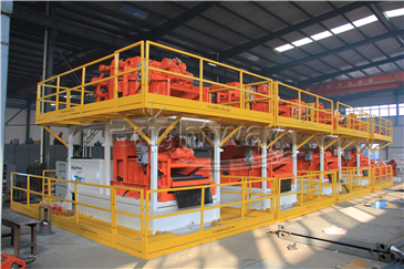 Side View of Tunnel Boring Machine Mud System