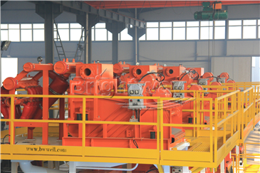 Desander in the top of Tunnel Boring Machine Mud System