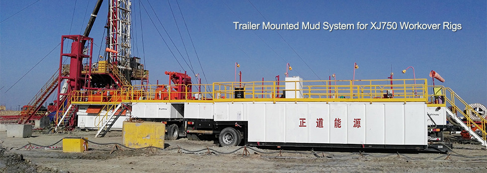 Trailer Mounted Mud System for XJ750 Workover Rigs